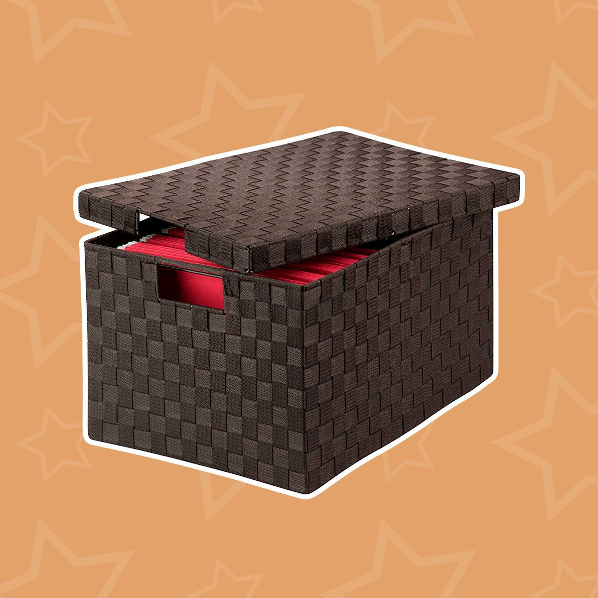 Large Woven File Storage Boxes