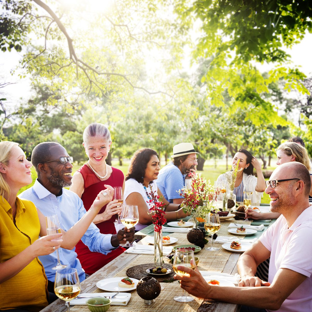 Friends Friendship Outdoor Dining People Concept; Shutterstock ID 305160602; Job (TFH, TOH, RD, BNB, CWM, CM): TOH