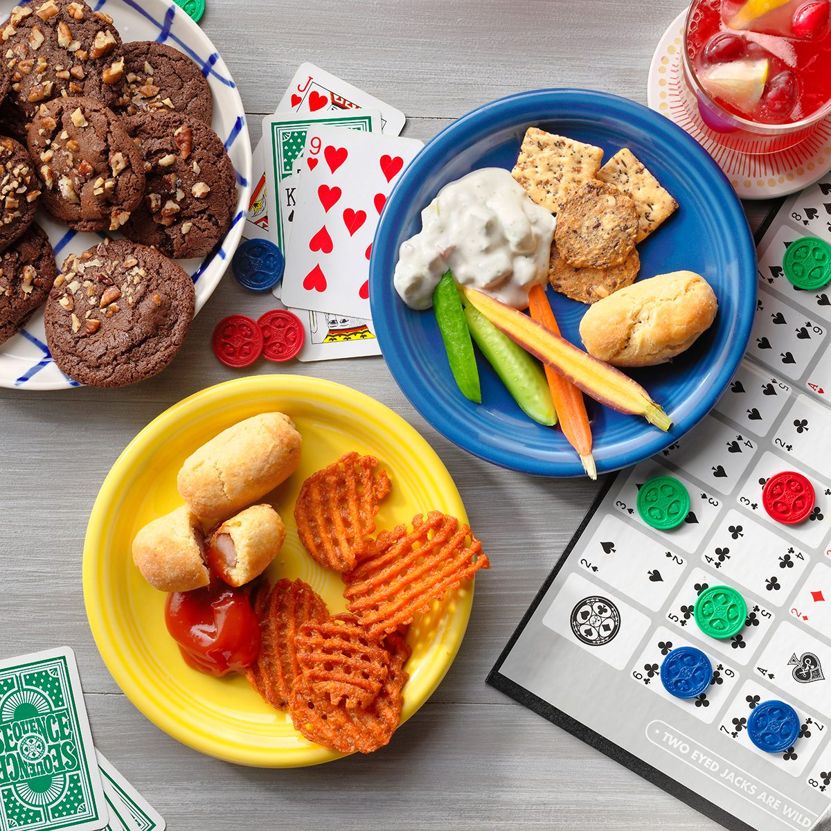 Board game snacks