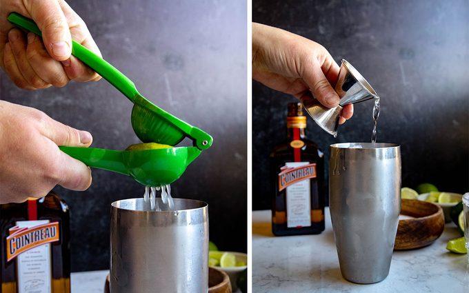 Shake it up how to make a margarita Margarita Step 2 Shake Option 2