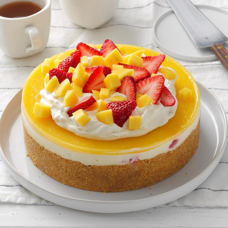 No Bake Mango Strawberry Cheesecake Exps Thjj19 232421 E02 20 1b 1
