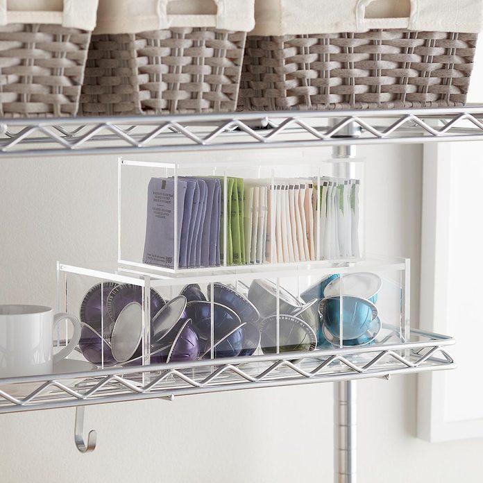 kitchen storage & organization Acrylic Divided Coffee Pod Box