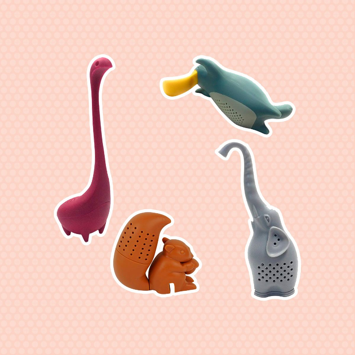Animal-Shaped Silicone Tea Infusers