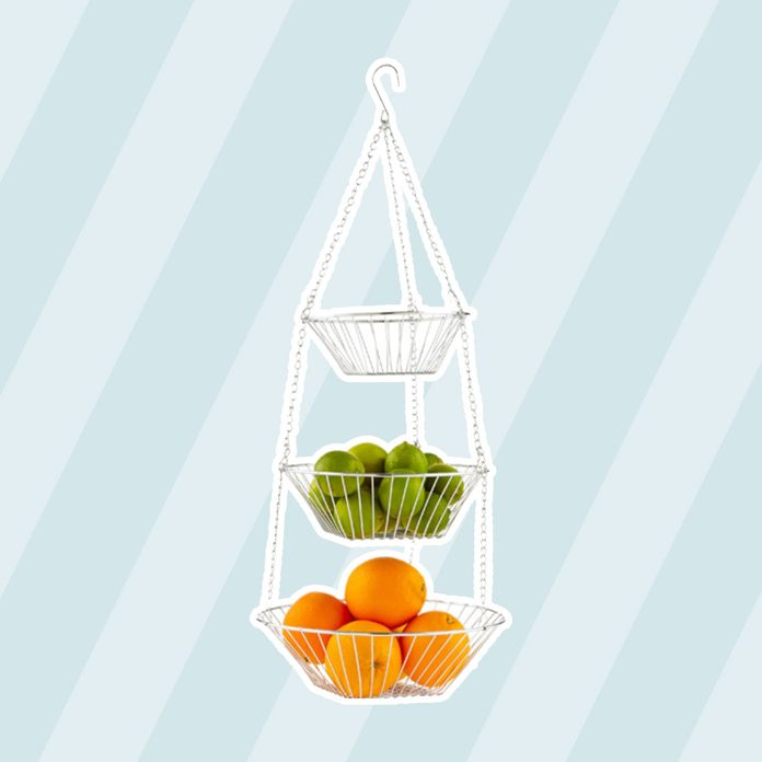 kitchen storage & organization Chrome 3 Tier Hanging Basket