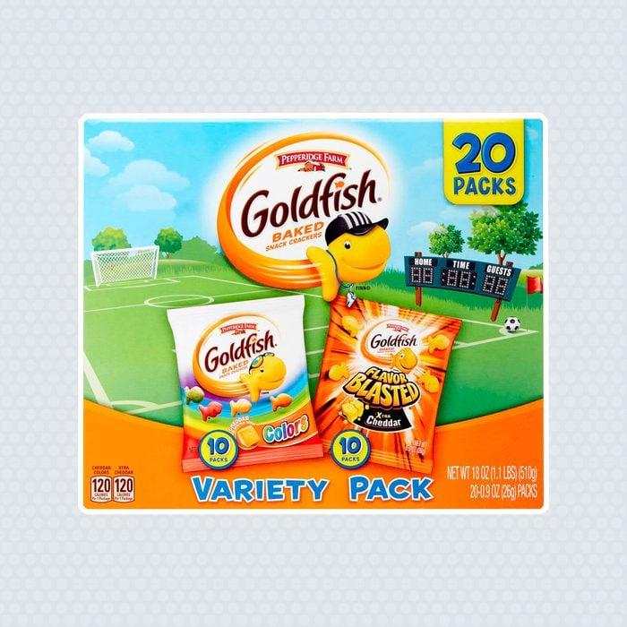 Pepperidge Farm Goldfish Variety Pack, Cheddar Colors, Flavor Blasted Xtra Cheddar, 0.9 Oz, 20 Ct