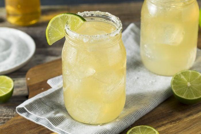 Refreshing Alcoholic Beer Margarita Beerita with Salt and Lime Corona Margarita