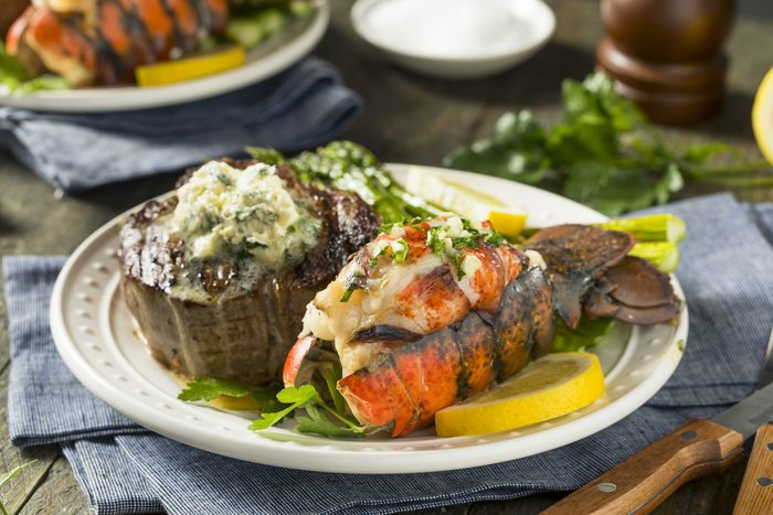 Homemade Steak and Grilled Lobster Tail Recipe