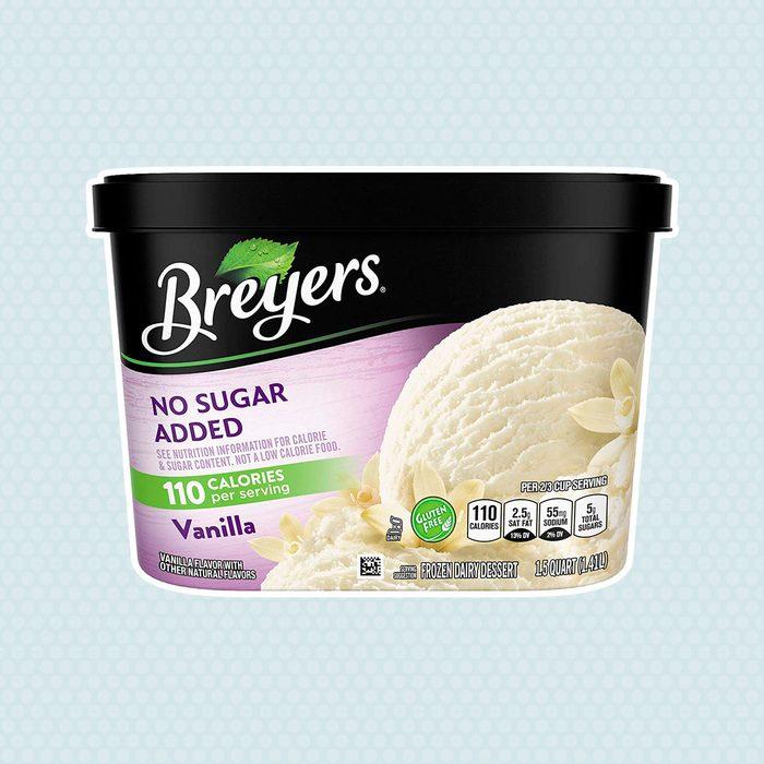 Breyers No Sugar Added Frozen Dairy Dessert, Vanilla 48 oz