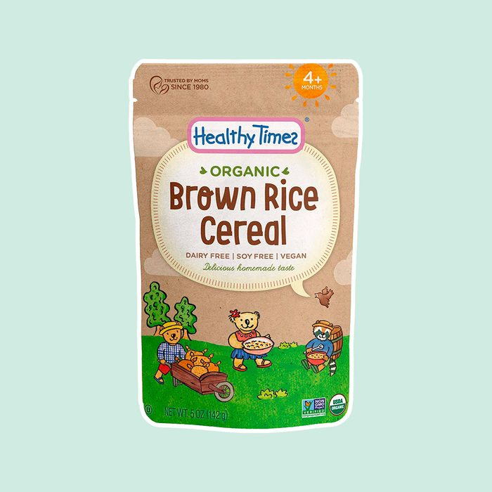 Healthy Times Organic Whole Grain Brown Rice Baby Cereal