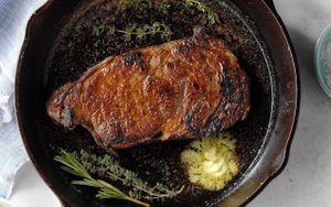 How to Cook Steak in a Cast-Iron Skillet