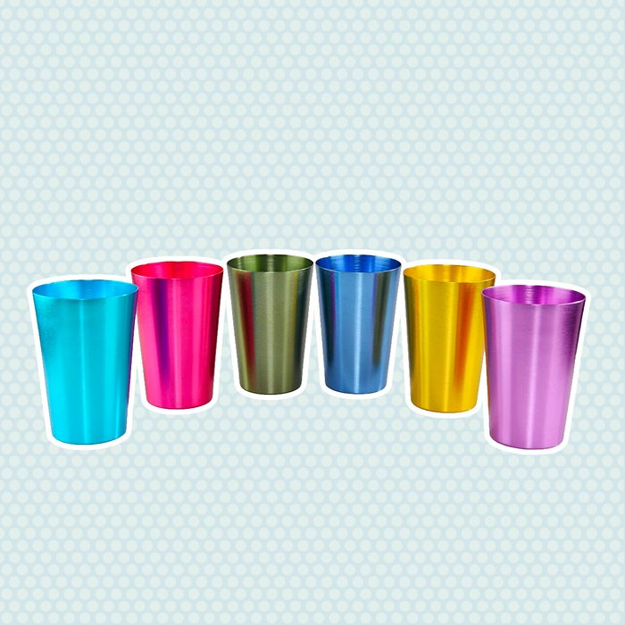 wedding anniversary gifts Colorful Aluminum Drinking Resistant Stackable