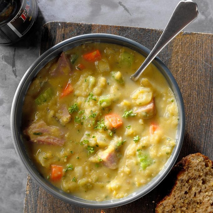 Pressure-Cooker English Pub Split Pea Soup