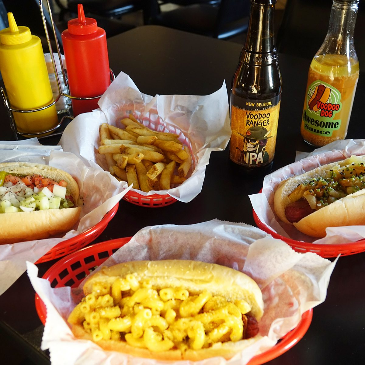 VooDoo Dogs table spread