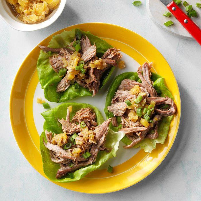 Day 7 Dinner: Hawaiian Pulled Pork Lettuce Wraps