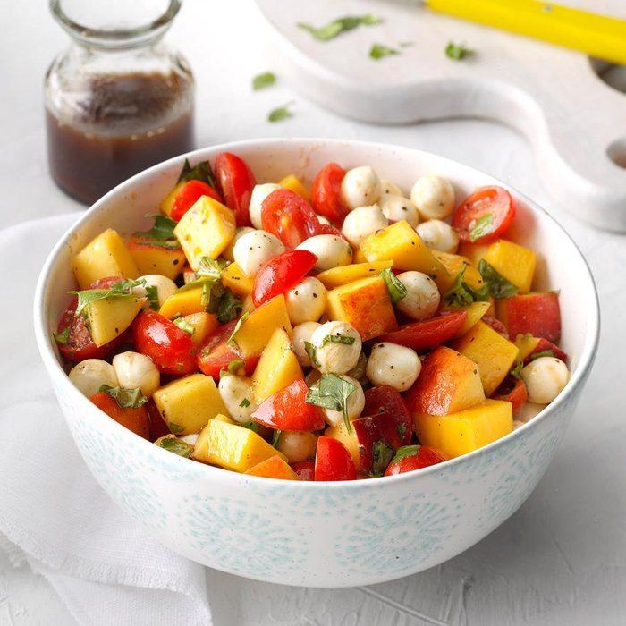 Peach Mango Caprese Salad