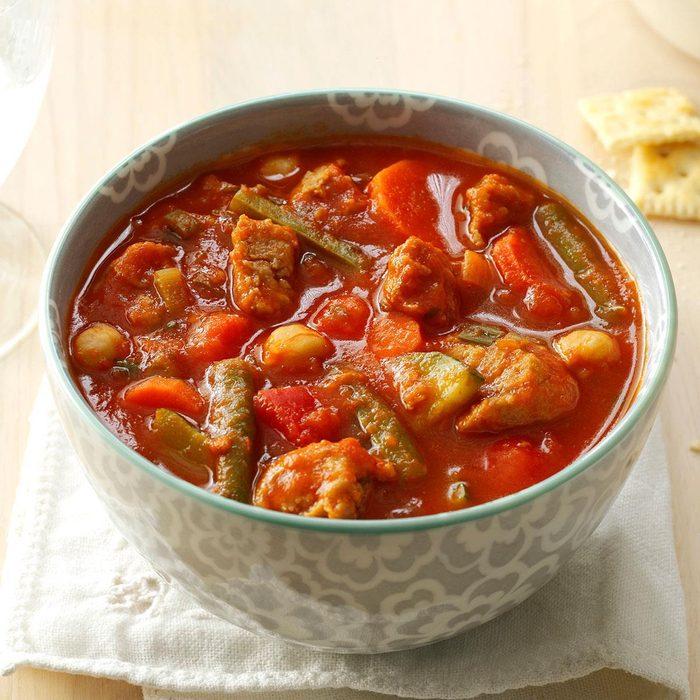 Pressure-Cooker Turkey Vegetable Soup