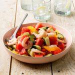 Watermelon Shrimp Salad