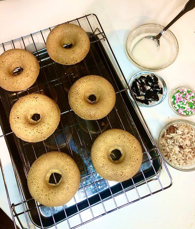 Decorate gluten free doughnuts