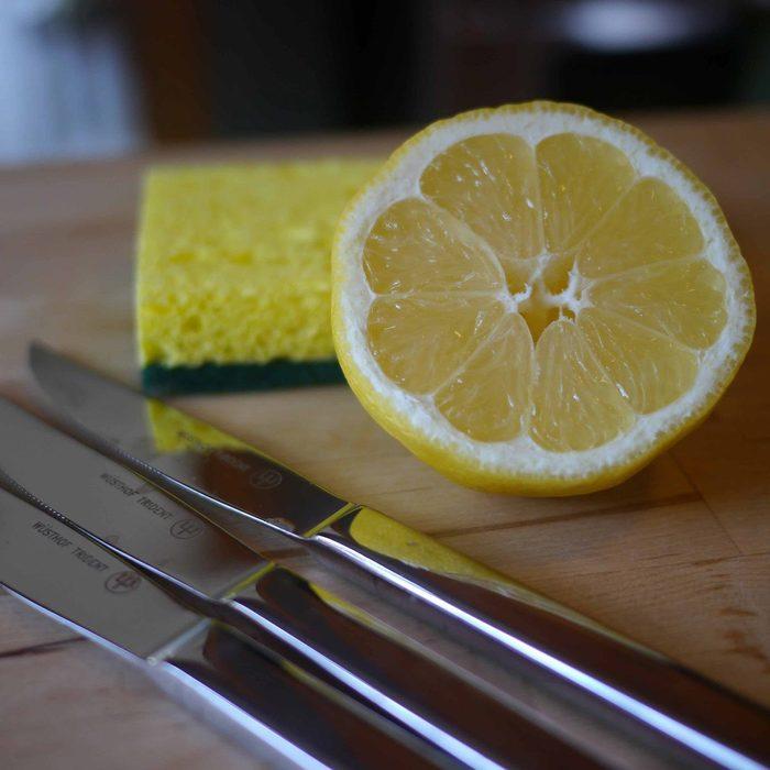 Lemon and silverware