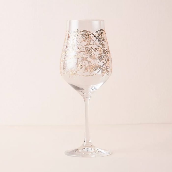 wedding anniversary gifts Fiorella Wine Glasses Set Of 4