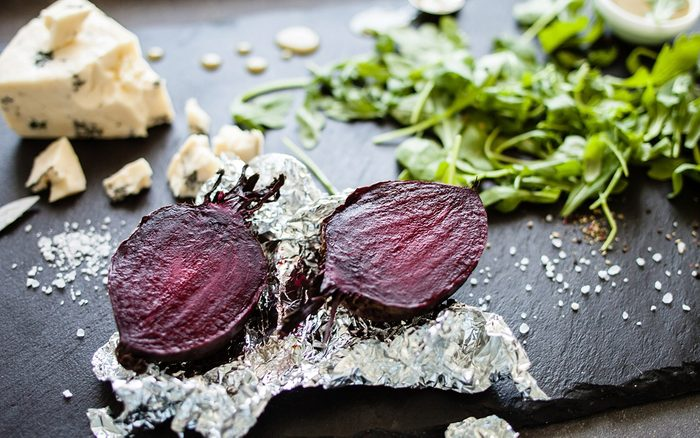 roasted beetroot with cheese