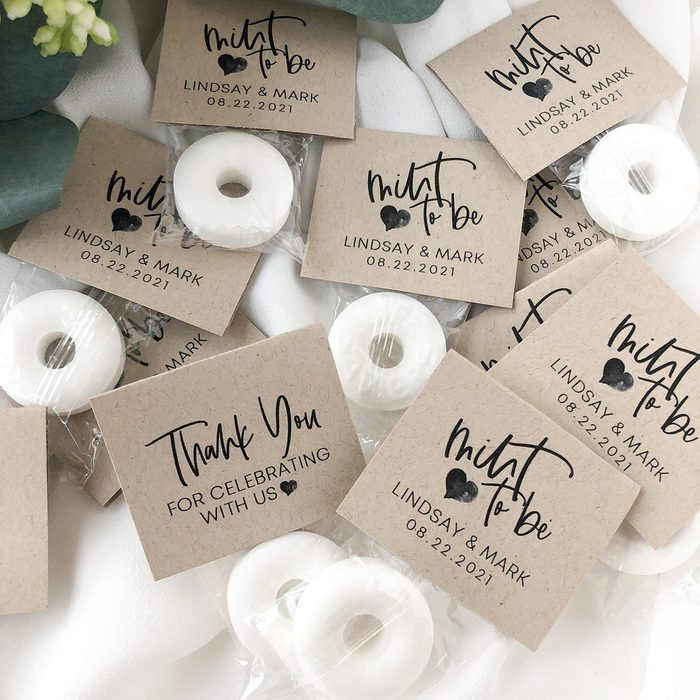 wedding thank you gifts Mint To Be Wedding Favors Mint Wedding
