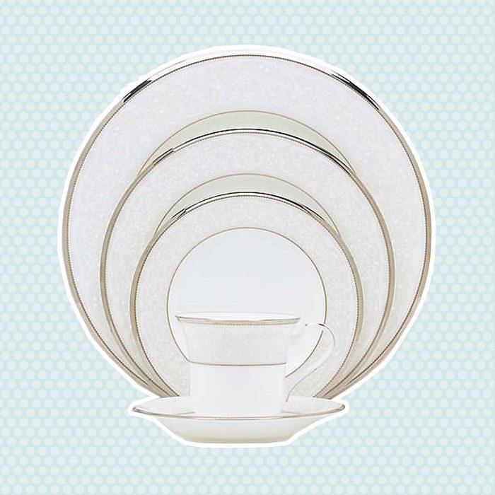 wedding anniversary gifts Noritake Reg Silver Palace Dinnerware Collection