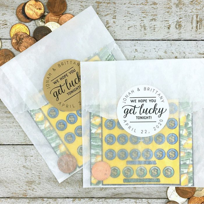 wedding thank you gifts Personalized Wedding Favor Get Lucky