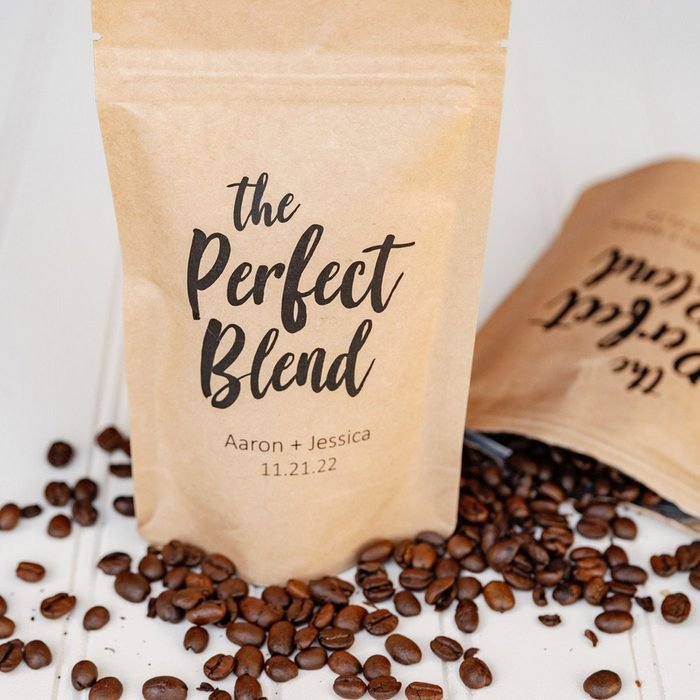 wedding thank you gifts The Perfect Blend Coffee Wedding Favor