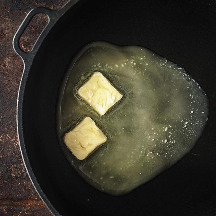 Melting butter in a skillet