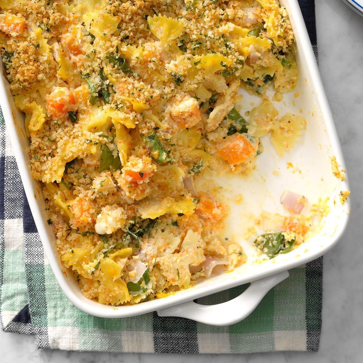 October 13: Butternut and Chard Pasta Bake