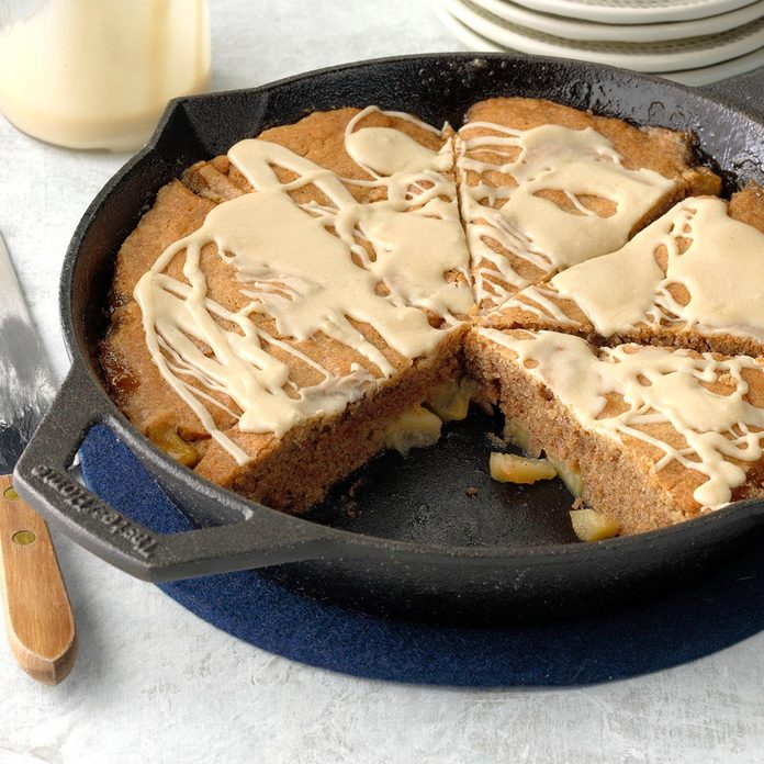Cast-Iron Apple Nutmeg Coffee Cake