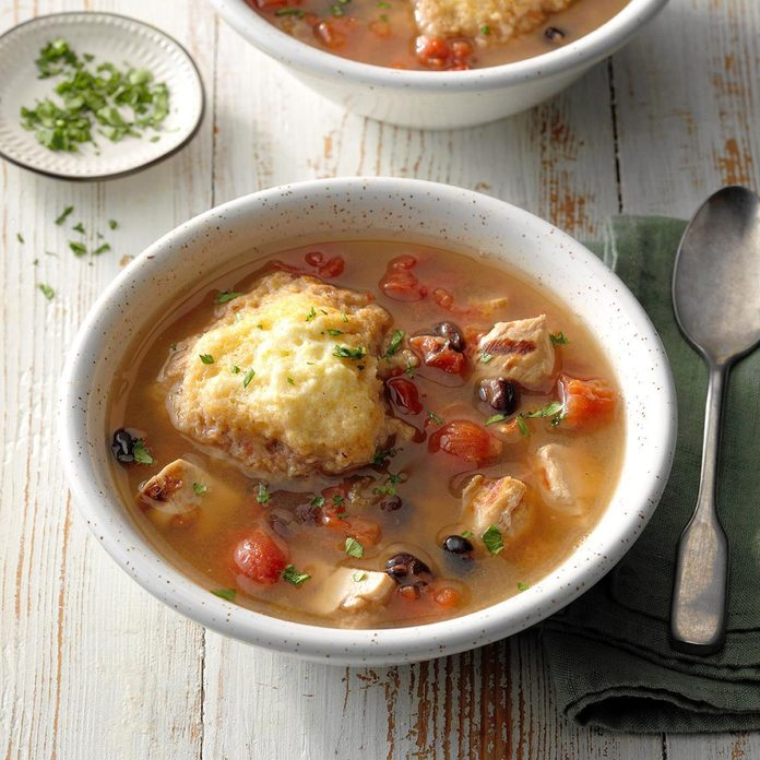 Chipotle Chicken Soup With Cornmeal Dumplings Exps Tohca19 41103 C03 14 6b Rms 6
