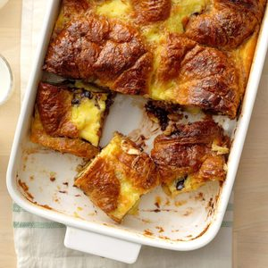 Chocolate Croissant Pudding