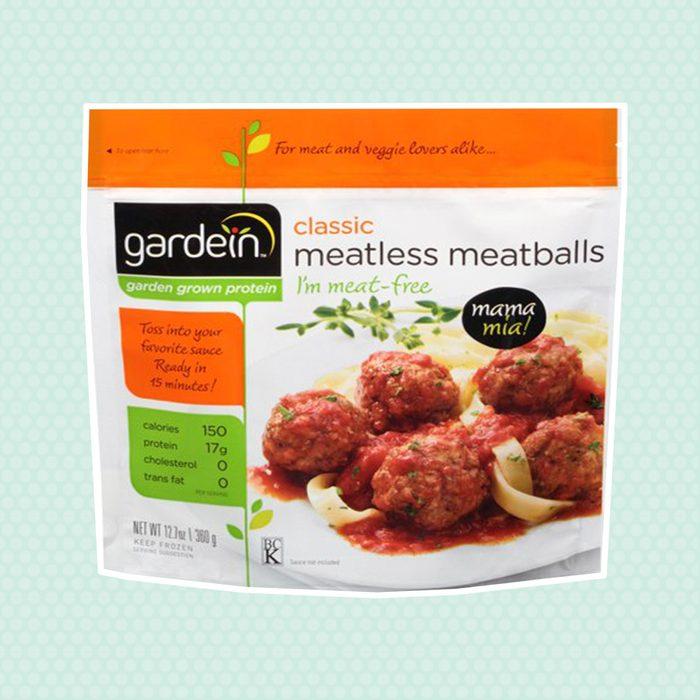 frozen meals, meatless meatballs