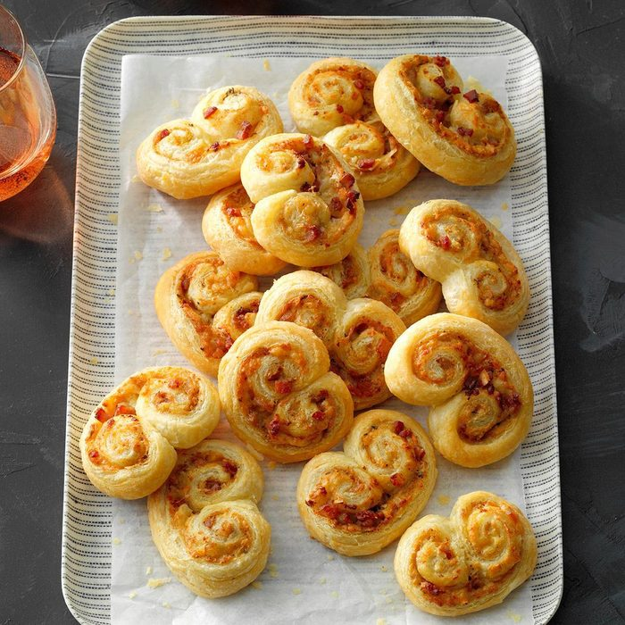 Gruyere and Crab Palmiers
