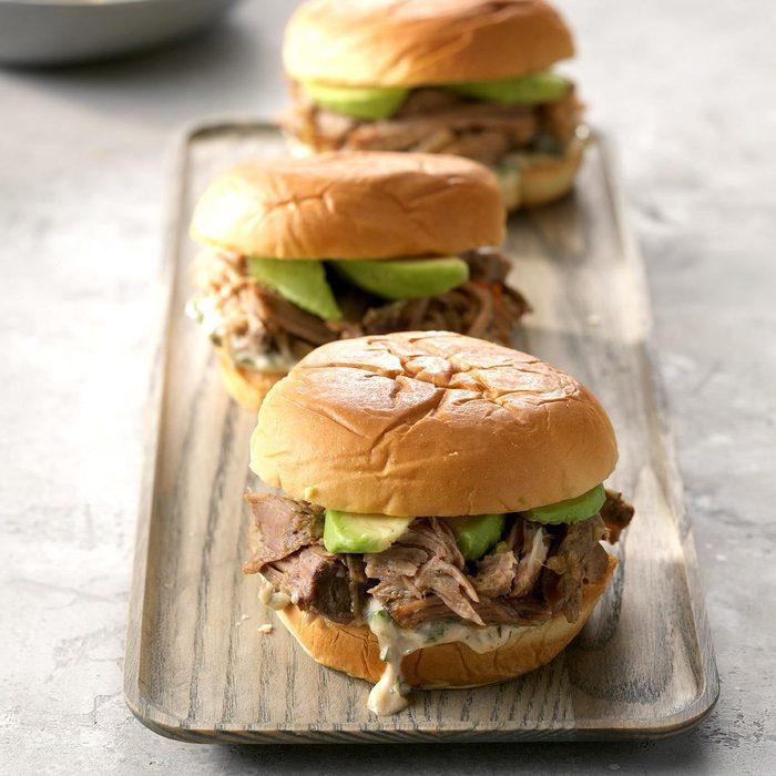 Midnight Caribbean Pork Sandwiches