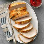 Pork Loin with Strawberry-Rhubarb Chutney