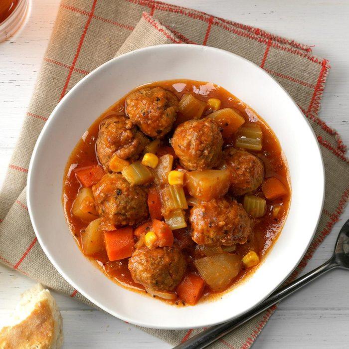 Slow-Cooker Meatball Stew