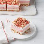 Strawberry Crunch Ice Cream Cake