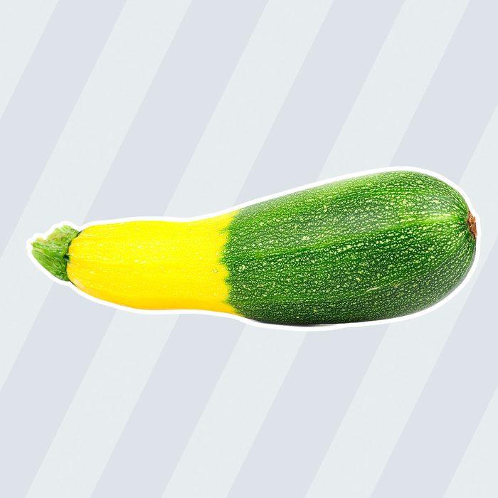 Hybrid green golden zucchini