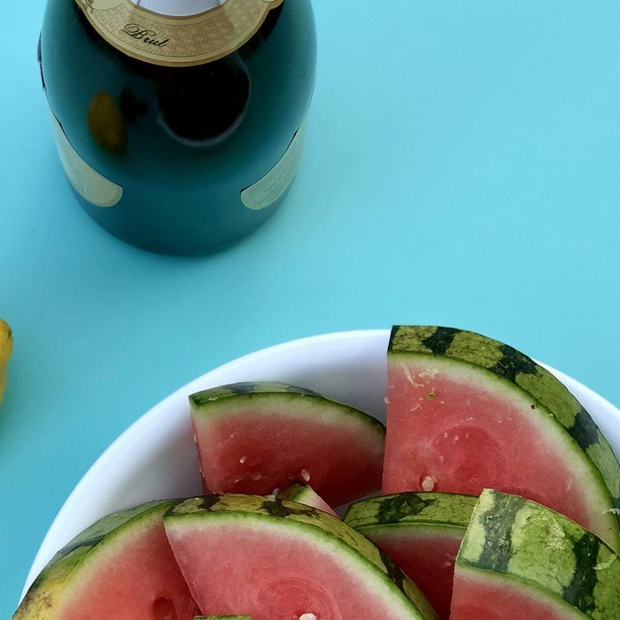 Champagne and Watermelon