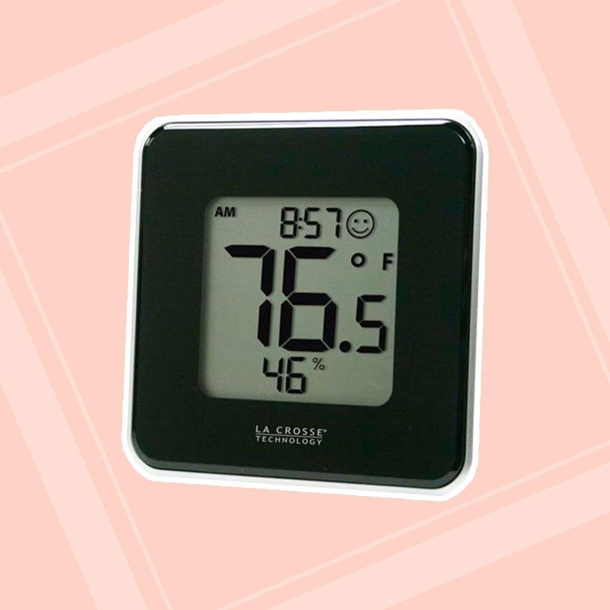 La Crosse Technology 302-604B Black Indoor Digital Thermometer & Hygrometer Station with MIN/MAX records & Comfort level icon