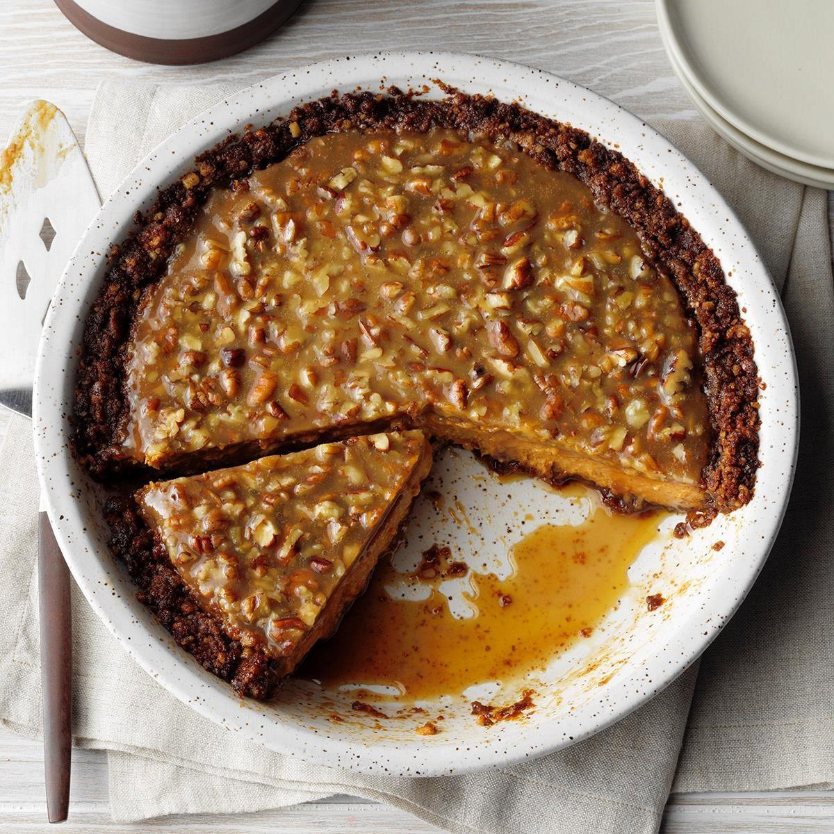 Virginia: Praline Pumpkin Pecan Pie