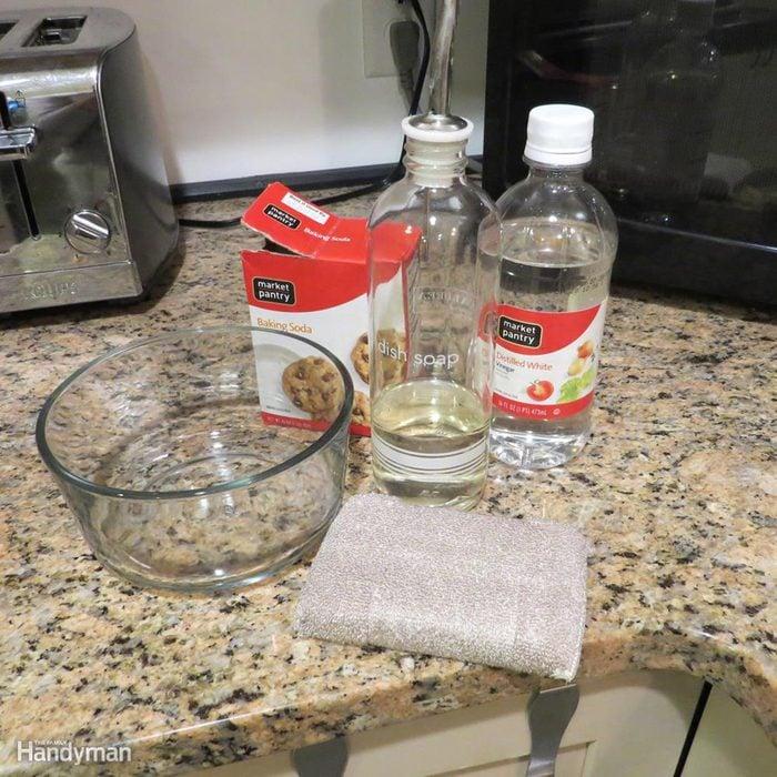 Ingredients for baking soda paste