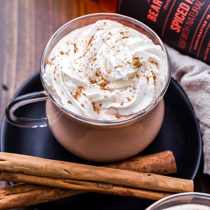Spiced rum chai latte