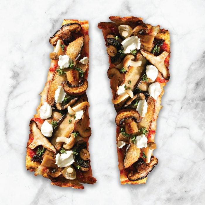 wild mushroom and goat cheese pizza