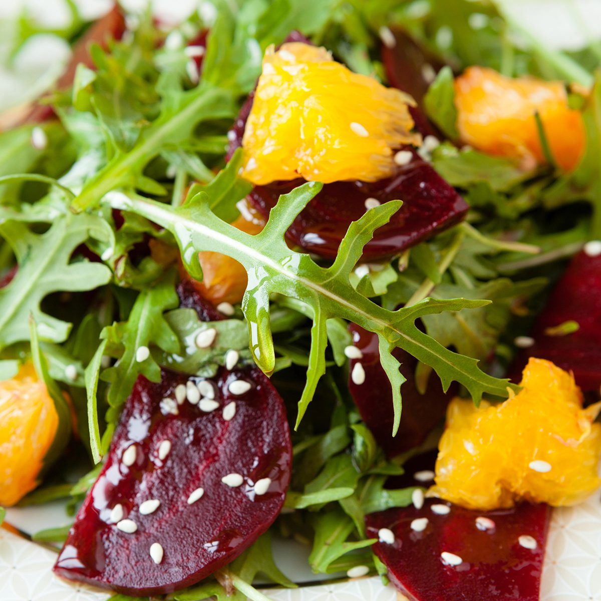 fresh salad with beets and oranges