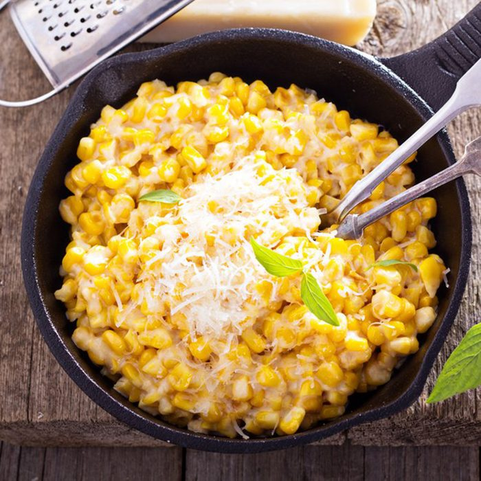 Corn on the cobb and cream cheese