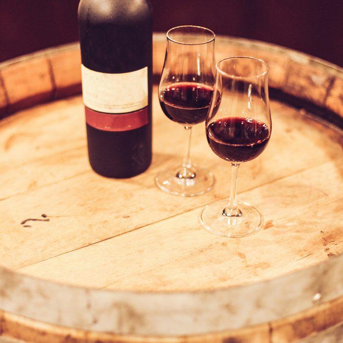 Port wine on barrel